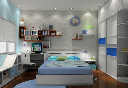 所以在进行儿童房屋装修设计时,可以考虑一些比较多变的方案,在选择